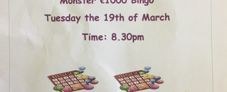 Bingo Fundraiser for Scoil Phadraig